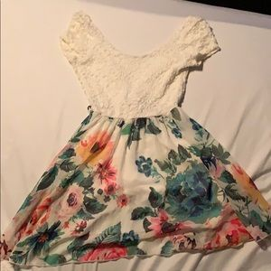 Floral and lace dress